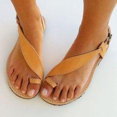 Shoespie Clip Toe Threading Flat Sandals