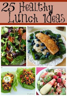 Looking for some healthy lunch ideas that aren't just more boring salads? These 25 healthy lunch recipes from top food bloggers are sure to be winners!