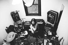 Parker, Recording 'Innerspeaker' at his home studio,Perth, Western Australia, Kevin Parker, Tame Impala, Music Like, Music Stuff, My Music, 2000s Music, Music Studio Room, Studio Gear, Studio Setup