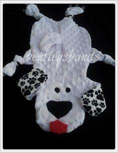 OOAK Boy Puppy Dog Minky Animal Taggie Blanket Security Blanket Children Babies Pets. $20.00, via Etsy.