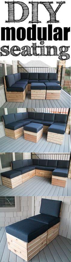 Platz sparen, Geld sparen - trotzdem eine coole Sitzecke haben! #DIY #sparen
