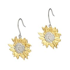 Look what I found at UncommonGoods: golden sunflower earrings... for $170 #uncommongoods