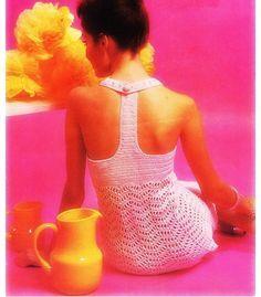 Crochet Dress Pattern Vintage 70s Crochet Tunic Mini Dress Pattern Crochet Wedding dress Pattern Crochet womans dress pattern