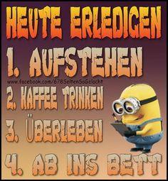 To survive - Guten Morgen Lustig - Kaffee Minion Gif, Happy Minions, Minions 1, Tabu, Good Humor, Famous Last Words, Cartoon Network, Survival, Lol