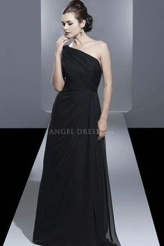 Chiffon Floor Length One Shoulder A line Mother of the Bride Dress