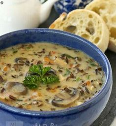 Chicken-Wild-Rice-Soup-with-Mushroom Reminds me of the soup I had in Morris Minnesota