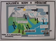 """Koloběh vody v přírodě - tématický týden """"Zachraňme Voděnku"""" (A3) Ms, Education, School, Teaching, Educational Illustrations, Learning, Onderwijs"""