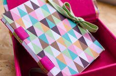 Nosso caderno ficou um charme na caixa da Malagueta Craft. ❤️