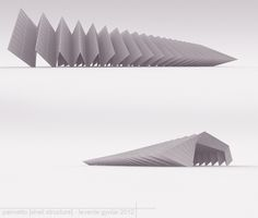 """""""palmetto"""" shell structure by Levente Gyulai, via Behance"""