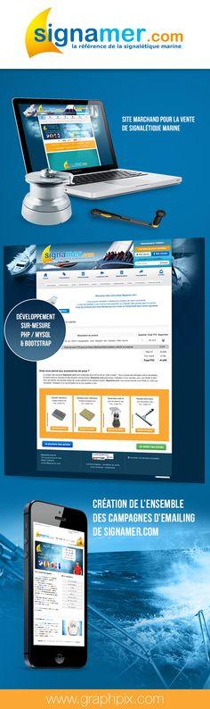 #Signamer.com #WebDesign #Développement #Bootstrap #ecommerce #graphpix