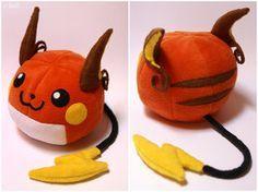 free sewing projects with kids /pokemon | Raichu plushie by ~Sefi on deviantART