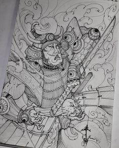 Instagram 上的 beng espiritu..philippines:「 another samurai study for his sleeve.. 」