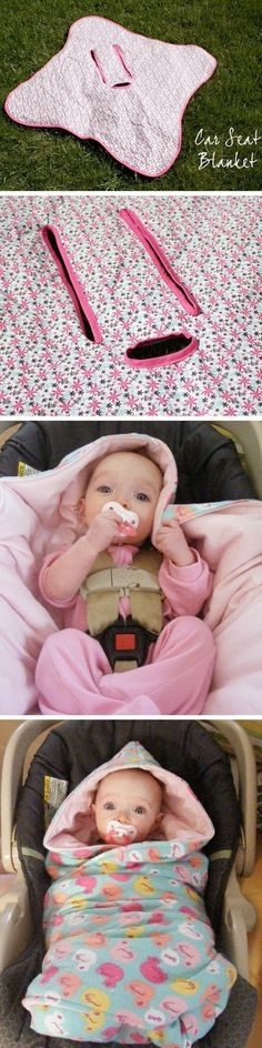 Car seats don't fit right with coats on, this is a perfect solution! Bundle up inside and put in the car. Warm and Safe!