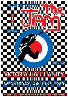 THE JAM Paul Weller  -  4 June 1980 Hanley - artistic concert poster