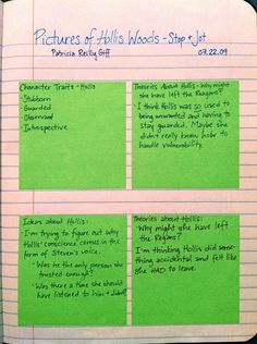 Reader's Notebook  Good Ideas here for upper elementary/middle shool