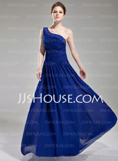 Evening Dresses - $133.99 - A-Line/Princess One-Shoulder Floor-Length Chiffon Evening Dress With Ruffle Beading (017004376) http://jjshouse.com/A-Line-Princess-One-Shoulder-Floor-Length-Chiffon-Evening-Dress-With-Ruffle-Beading-017004376-g4376