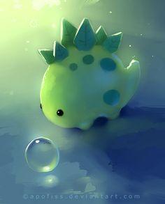 Cute Lil dinosaur by apofiss