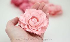 Making Paper Peonies with Silhouette