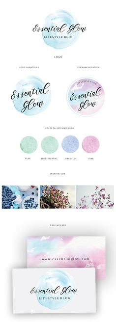 Branding kit logo design  Blue watercolor logo  by JassnaDesign  A premade logo is a quick and easy way to get a beautiful and professional looking brand identity. This premade logo will be modified with you shop name or personal name and tagline.. Pretty and affordable  https://www.etsy.com/listing/478269042/branding-kit-logo-design-blue-watercolor?ref=shop_home_active_1