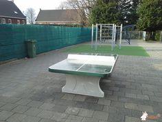 Pingpongtafel Afgerond Groen bij Venhorst in Venhorst