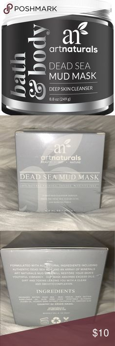 Art Naturals Dead Sea mud mask Sealed, never opened. Unique blend of dead sea mud & other natural ingredients cleanses, detoxes and revitalizes skin Diminishes wrinkles, age & sun spots, hydrates, brightens & moisturizes skin for increased radiance Acts as a blackhead remover & acne treatment, drawing toxins from skin & deep-cleaning pores Effective fighter against eczema, psoriasis, dermatitis, & cellulite for women, men and teens All ingredients meet art naturals' 100 percent natural…