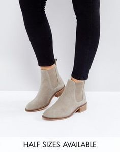 ASOS ABSOLUTE Suede Chelsea Ankle Boots