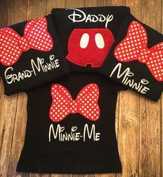 Custom matching family Disney shirts by LittleChickiesClips