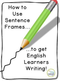 Using Sentence Frames to Get ELL Students Writing Using sentence frames in a practical way to help your ELL or ENL students begin to master writing in a manner that will leave them feeling empowered! Teaching Writing, Teaching English, Esl Writing Activities, Kindergarten Writing, Teaching Ideas, Esl Learning, Efl Teaching, Teaching Methods, Education English