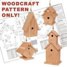 Birdhouse Village DIY Woodcraft Pattern #1824 - This simple project turns leftover wood pieces into four lovely, full-size birdhouses! Precise plans guarantee no-fail success. Easy to make, fun to sell! Largest is 25H x 11W x 11D. 4 Designs! Pattern by Sherwood Creations #woodworking #woodcrafts #pattern #crafts #bird #birdhouse #easybirdhouses #birdhousedesigns #birdhouseplans #simplebirdhouse #woodcraftprojects #diybirdhouse #pimplediy #woodworkingcraftstosell