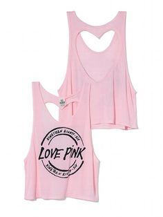 Heart Back Tank - PINK - Victoria's Secret