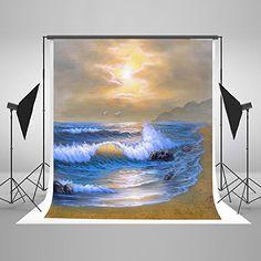 Kate Photography Background Sunshine Beach for C Portrait Background, Background For Photography, Sea Photography, Photography Backdrops, Beach Backdrop, Scene Photo, Studio Portraits, Photo Backgrounds, Beach Photos