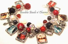 Vampire Charm Bracelet Jewelry 'Love Never by baublesbeadsncharms