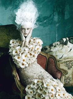 Dolce and Gabbana Alta Moda Spring Summer 2014: Marie Antoinette on Vogue Germany shots  -