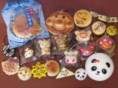 20 PC Kawaii SQUISHY LOT Panda Bun Rilakkuma Cupcake Waffle Burger Squishies | eBay
