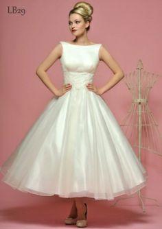 ankle length wedding dress