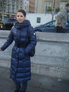 Winter Suit, Winter Wear, Coats For Women, Jackets For Women, Ladies Coats, Nylons, Down Suit, Langer Mantel, Blue Jumpsuits