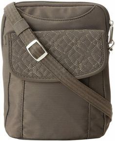 Travelon Anti-Theft Slim Pouch With Stitching. This lightweight bag fits more than enough items!