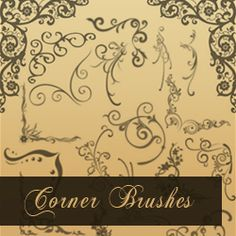 Corner Brushes for Photoshop psd-dude.com Resources