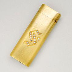Diamond and 18K Gold Lighter, Cartier Paris