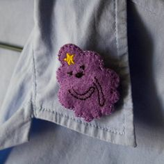 Handmade Felt Pin 'Adventure Time Character: Lumpy Space Princess'