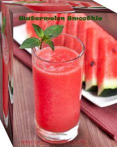 Watermelon sunscreen smoothie