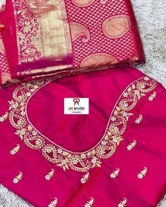 Peacock Embroidery Designs, Bead Embroidery Patterns, Hand Work Embroidery, Beaded Embroidery, Choli Blouse Design, Fancy Blouse Designs, Saree Blouse Designs, Half Saree Lehenga, Sarees