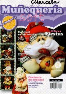 Maravillosos muñecos soft para hacer y regalar en navidad. Revista completa con instrucciones gráficas y patrones.