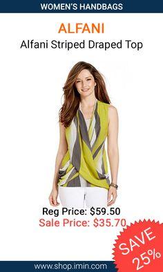 Alfani Striped Draped Top #fashion #I mIn #sale http://www.shop.imin.com/p/Alfani-Striped-Draped-Top/1639565
