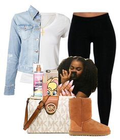 """""""Untitled #1344"""" by melaninprincess-16 ❤ liked on Polyvore featuring Calvin Klein, (+) PEOPLE, Casetify, Victoria's Secret, Forever 21, MICHAEL Michael Kors, UGG Australia and Sterling Essentials"""