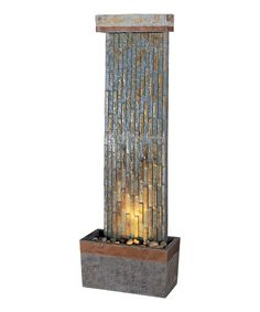 Take a look at this Copper Gilmer Natural Slate Floor Fountain by Design Craft on #zulily today!