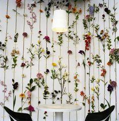 #floral #wallart wall art hanging dried flowers