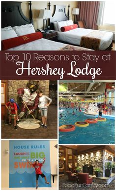 10 Reasons to Stay at Hershey Lodge Top 10 reasons to stay at Hershey Lodge (whether you're visiting Hersheypark or not!) ADTop 10 reasons to stay at Hershey Lodge (whether you're visiting Hersheypark or not! Need A Vacation, Vacation Places, Vacation Trips, Dream Vacations, Vacation Spots, Vacation Ideas, Family Vacations, Family Travel, Greece Vacation