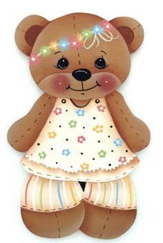 HP FRIDGE MAGNET Bear wearing a daisy chain