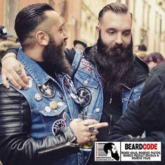 #BeardOfTheDay For Saturday 24th March 2018 is actually two #beards for the price of one, this great #beardedbrothers photo! #beard #bearded #beardlife #beardgang #beardclub #barber #beardsofinstagram #leatherjacket